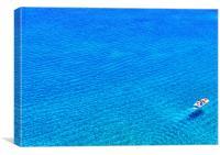 Pedalo on Deep Blue Sea, Canvas Print