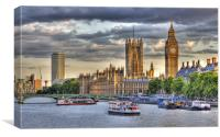 Sun Setting on Big Ben London, Canvas Print