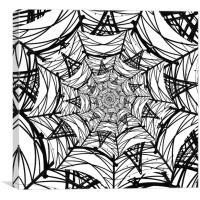 Spiderweb Pylon, Canvas Print