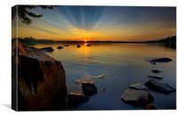 Lakeside Sunset, Canvas Print