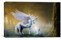 Bluebell Unicorn, Canvas Print