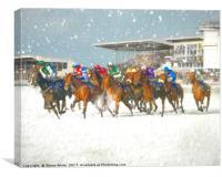 Winter Racing, Canvas Print