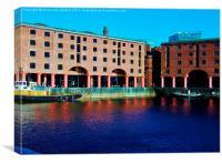 The docks, Canvas Print