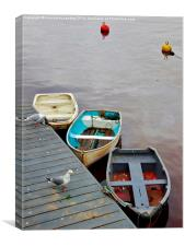 Three little boats, Canvas Print