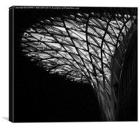 Kings Cross Station Canopy, Canvas Print