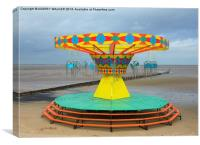 Cleethorpes fairground roundabout, Canvas Print