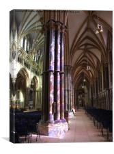REFLECTIONS IN LINCOLN CATHEDRAL, Canvas Print