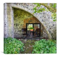 Bistro Table and Chairs, Canvas Print