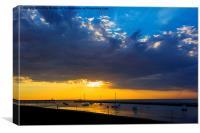 Herne Bay Sunset Beach, Canvas Print