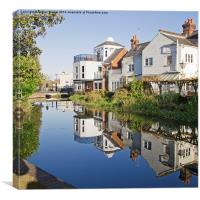 River Stour, Canterbury, Canvas Print