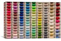 Cotton Reels, Canvas Print