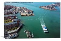 Portsmouth Harbour, Canvas Print