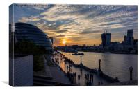 South Bank Sunset, Canvas Print