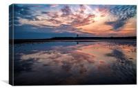 Beach reflections, Canvas Print