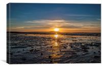 Machynys sunset Llanelli, Canvas Print