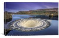 Thats one giant Plughole.. Bath time at Ladybower , Canvas Print