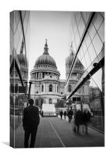 On Reflection at St Pauls, Canvas Print