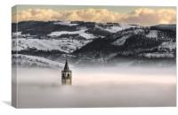 Montorsello fog, Canvas Print