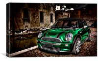 Mini Cooper, Canvas Print