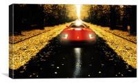 A red car, Canvas Print