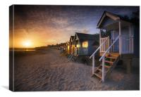 Wells-next-the-Sea Beach Huts , Canvas Print