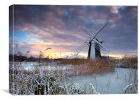 Winter at Herringfleet, Canvas Print