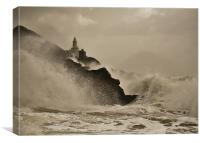 Mumbles Lighthouse Swansea, Canvas Print