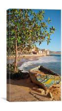 Moroccon Village Boat Pattern, Canvas Print