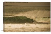 surfing Irish waves, Canvas Print