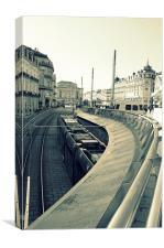Montpellier Tram, Canvas Print