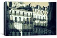 Montpellier Façades, Canvas Print