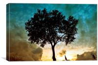 Tree & Clouds, Canvas Print