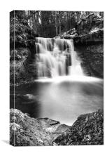 Goit Stock Waterfall Black and white, Canvas Print