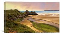 Three Cliffs Bay, Canvas Print