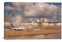 Brighton Beach, Canvas Print
