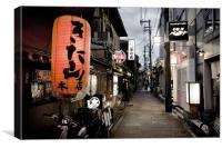 Backstreet in Kyoto, Canvas Print