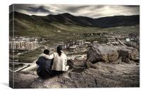 Overlooking Ulaanbaatar, Canvas Print