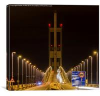 Severn bridge Symmetry, Canvas Print
