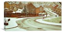 Winter street scene, Canvas Print