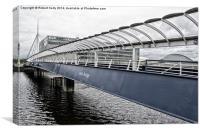 Bells Bridge over The River Clyde, Canvas Print