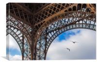 Birds under the Eiffel Tower, Canvas Print