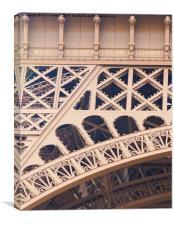 Eiffel Tower detail, Canvas Print