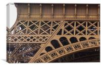 Close-up of 7 names on the Eiffel Tower, Canvas Print