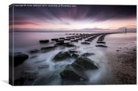 Felixstowe Sea Defences, Canvas Print