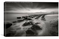 Felixstowe Sea Defences, Canvas Print