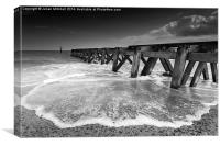 Jetty at Landguard Point, Canvas Print