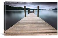 Derwent Water Jetty, Canvas Print