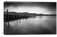 Derwent Water in Black & White, Canvas Print