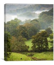 Mist on the Fells, Canvas Print