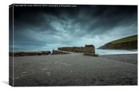 Portwrinkle Harbour, Canvas Print